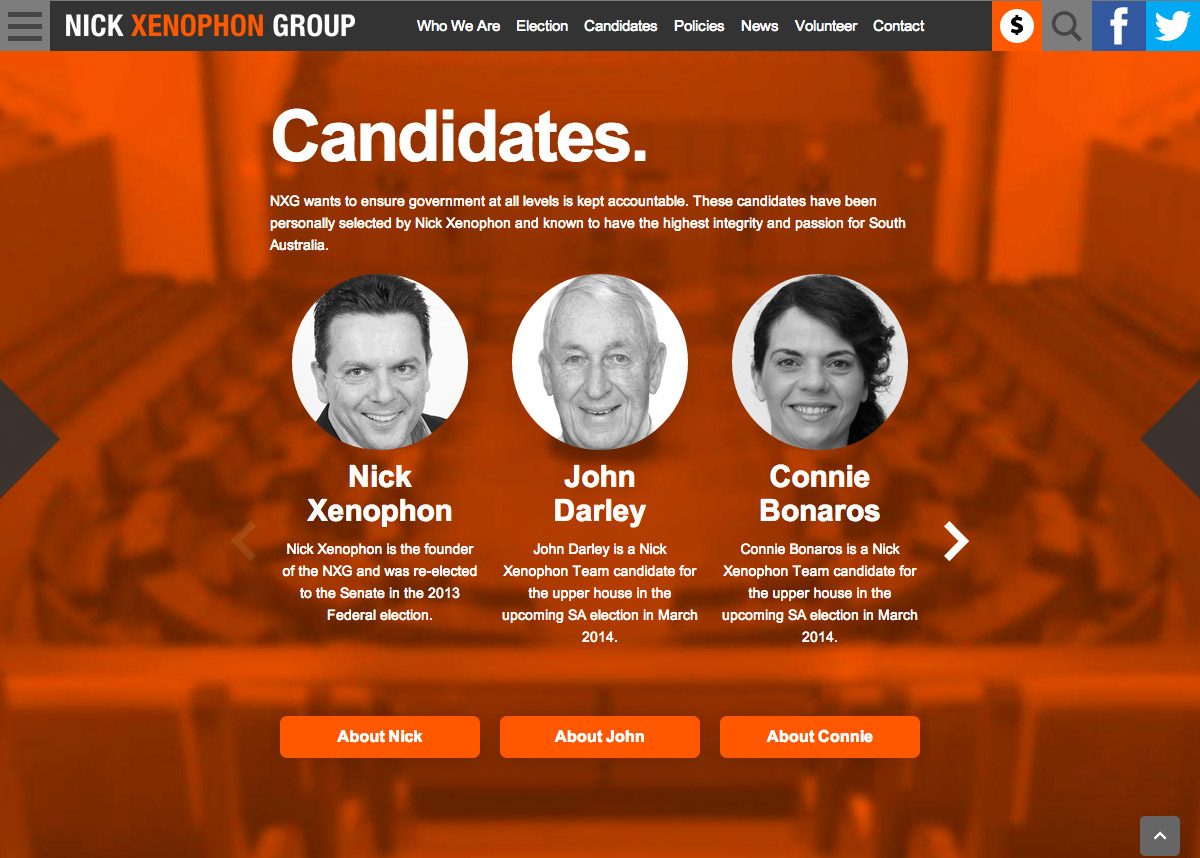 Nick Xenophon Group - Candidates