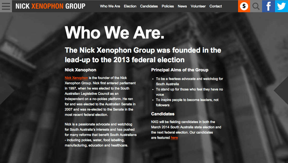 Nick Xenophon Group - Who We Are
