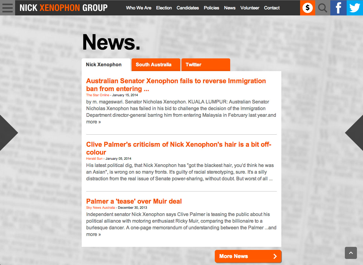 Nick Xenophon Group - News